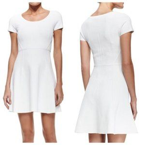 DVF Shea Short Sleeve Fit & Flare Dress in White
